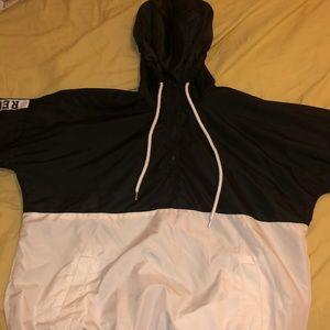 A windbreaker or jacket